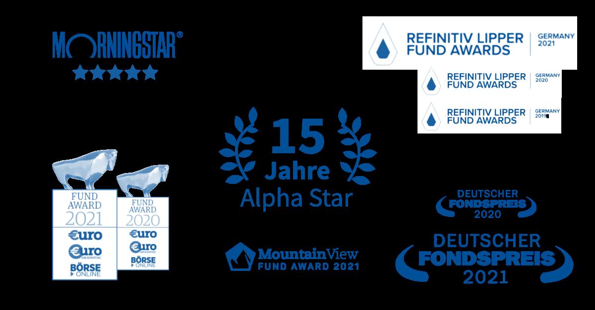 Alpha Star Auszeichnungen