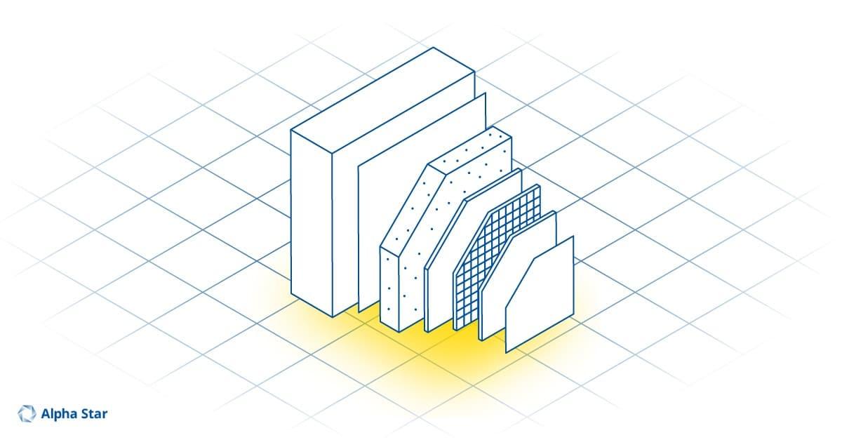 Zusammensetzung der Isolation-Platten