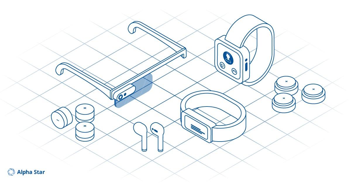 Microbatterien in Wearables