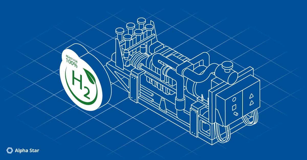 Wasserstoff-Blockheizkraftwerk (BHKW) der Zukunft