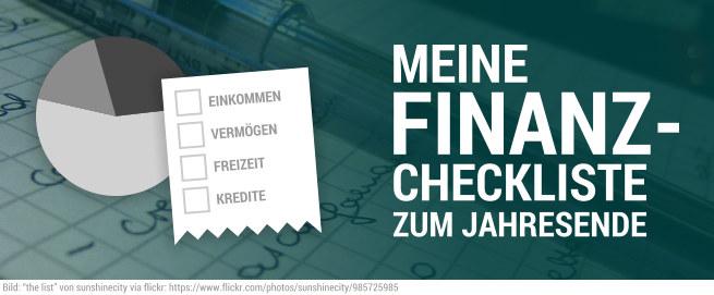 Finanz Geld Checkliste