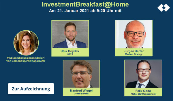 Investment Breakfast Anmeldung
