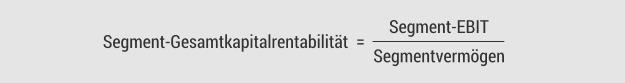 Segment-Gesamtkapitalrentabilität